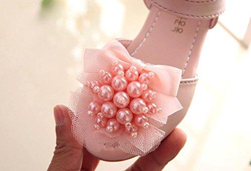 IGEMY Baby Fashion Pearl Kleinkind Kinder Floral Prinzessin Casual Sandalen Rosa