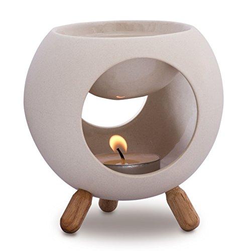 Kaloogo - Sabai Scent Keramik Duftlampe rund (Duftlicht) - weiß