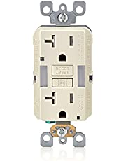 Leviton Self-Test SmartlockPro Slim GFCI Tamper-Resistant Receptacle with Guidelight and LED Indicator