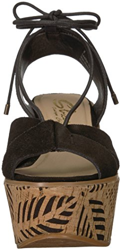 Staycation Black Women's Wedge Sandal Sbicca Zwfx74qzn
