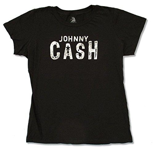 Zion Juniors Johnny Cash Basic Logo Black Baby Doll T Shirt (XL)