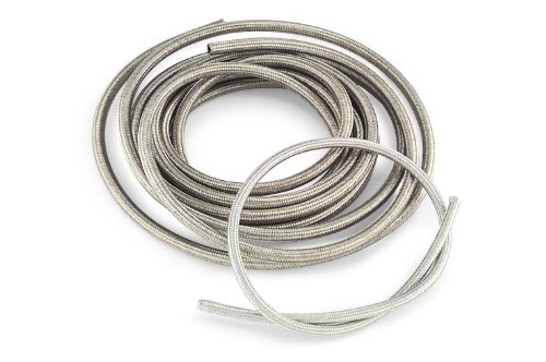 Goodridge Oil/Fuel Hose Braided 5/16 X 3 Feet - Chrome Fuel Line