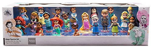 Collection Mega Figure Set- 20 pieces with Display Box (Disney Collectible Figurines)