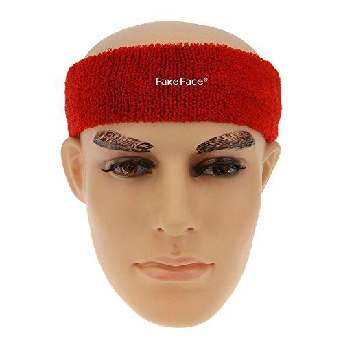 Bandeau Sport Bande de Cheveux Serre-tête Anti-transpiration Headband Adulte Homme Femme pour Yoga,Course,Fitness,Ski de fond,Badminton,Tennis et autres activités de plein air