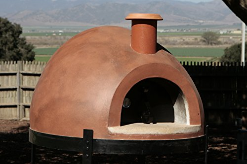 Primavera 70 Outdoor Wood Fired Counter Top Pizza Oven (Red)