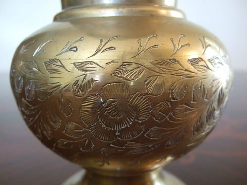 Amazon Vintage Etched Brass Vase Made In India Home Kitchen