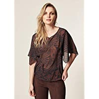 Blusa Chiffon Estampa Safari Abstract