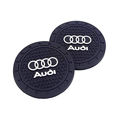 SHENGYAWAUTO Car Interior Accessories Cup Holder,Anti Slip Cup Mat Insert for Audi All Models 2 Packs,2.75 inch: Automotive