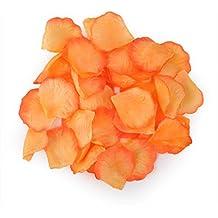 HDE Artificial Rose Flower Petals Wedding Party Decoration (1000 Count, Marigold Petals)