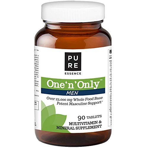 Pure Essence Labs One N Only Multivitamin for Men – Natural One a Day Herbal Supplement with Vitamin D, D3, B12, Biotin – 90 Tablets Review