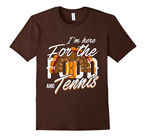Halloween Tennis Costume Ideas (Kids Thanksgiving shirt I'm here for Food & Tennis Turkey gifts 12 Brown)