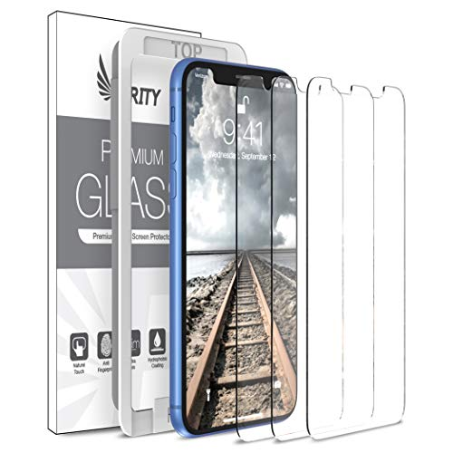 Purity Screen Protector for Apple iPhone XR - 3 Pack (w/Installation Frame) Tempered Glass Screen Protector Compatible iPhone XR (3 Pack) [Anti-Scratch] [Fit with Most Cases] from Purity