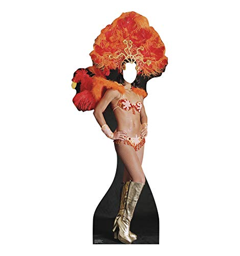 Advanced Graphics Vegas Show Girl Stand-in Life Size Cardboard Cutout Standup - Vegas Party Theme ()