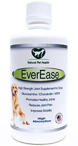 EverEase Extra Strength Liquid Joint Supplement for Dogs, High Absorption for Faster Relief of Arthritis Pain, Improved Joint Health and Greater Mobility. Made in USA From Best Human Grade Glucosamine, Chondroitin, MSM & Hyaluronic Acid. Money Back Guarantee. (Pet Naturals Extra Strength compare prices)