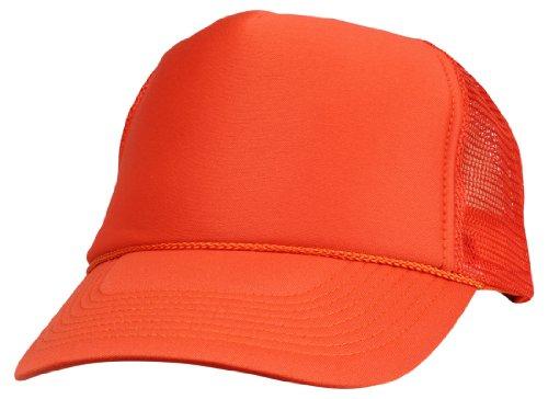 (DALIX Blank Hat Summer Mesh Cap in Orange Trucker Hat)