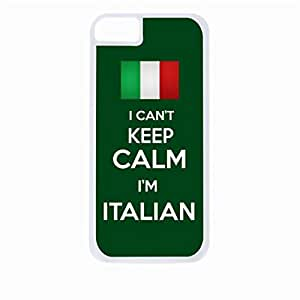I Can't Keep Calm I'm Italian- Hard Black Plastic Snap - On Case-Apple Iphone 5 - 5s - Great Quality!