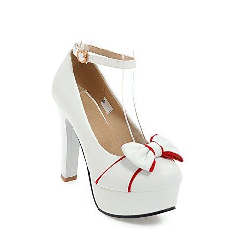 de para del Primavera Aguja Cuero Oficina pie Caminando Mujer sintético Mujer Zapatos Heels del Novedad PU para Boda Hebilla Verano tacón Zapatos Redonda de Dedo Comfort la pqZwtX1tg