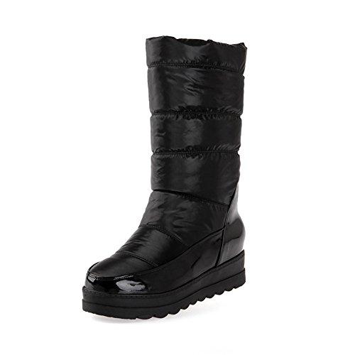 JOYORUN(ジョユラン)冬用ブーツロングレディース雪靴防水防滑防寒ノーブーツ旅行用厚手柔らかいブラック22.0cm