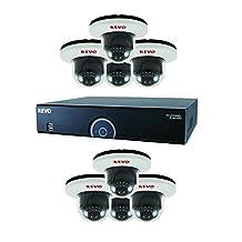 Revo R165D8G-4TW 16 CH 4 TB DVR Surveillance System with 8 700TVL Dome Cameras, Grey