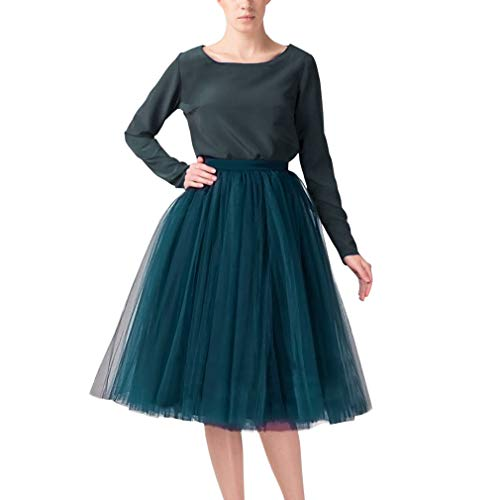 - WDPL Adult A-line Short Tulle Skirt Bridesmaid Petticoat Tutu for Women (Medium, Peacock Blue)