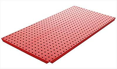 Alligator Board ALGBRD16x32PTD-RED Red Powder Coated Metal Pegboard Panels with Flange - Pack of 2