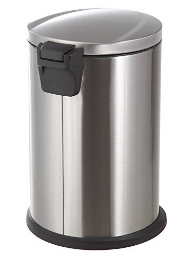 Home Zone 12-Liter Stainless Steel Round Step Trash Can by Home Zone (Image #2)