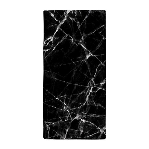 CafePress Black Marble Stone Gray Accents Large Beach Towel, Soft 30