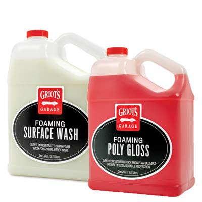 Griot's Garage Foaming Surface Wash and Foaming Poly Gloss 1 Gallon Kit Griot' s Garage