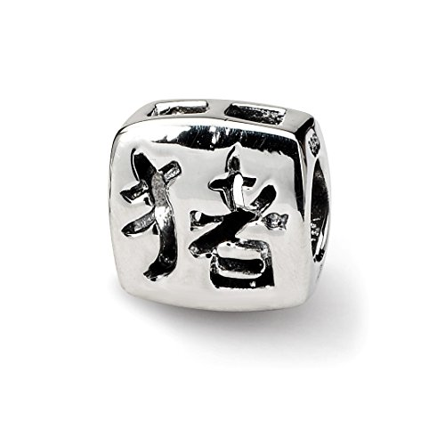 925 Sterling Silver Charm For Bracelet Chinese Good Luck Bead Fine Jewelry Gifts For Women For Her ()