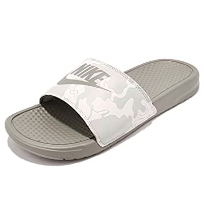 Nike Benassi Just Do It Print Men's Slide Dark Stucco/Grey