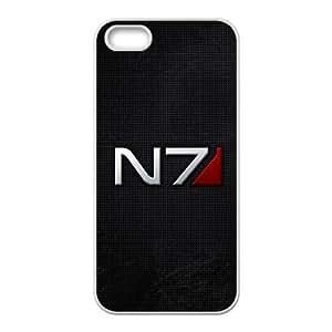 Back Skin Case Shell iPhone 5, 5S Cell Phone Case White fon igry logotipy mass effect Kepfx Pattern Hard Case Cover