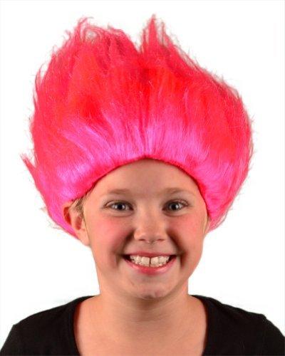 Bargain mi traje Pelucas de Boy Troll peluca (rosa) Talla Única