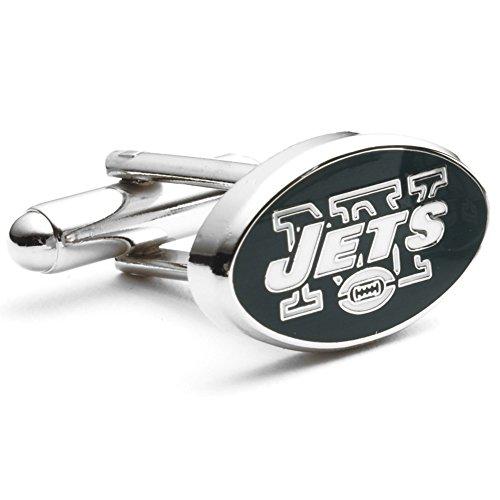 New York Jets Cufflinks (Rhodium Plated New York Jets Cufflinks NFL)