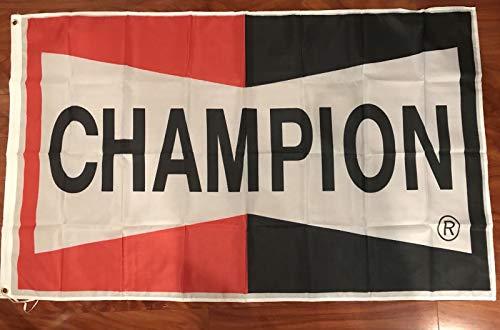 Racing Champion (Champion Spark Plugs Flag Racing Flag 3' X 5' BANNER Banner)