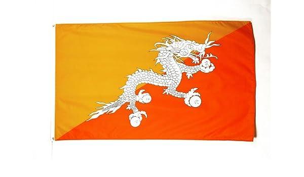 AZ FLAG Bandera de BUTÁN 250x150cm - Gran Bandera BUTANÉSA 150 x 250 cm: Amazon.es: Jardín