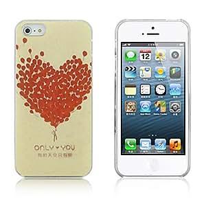 JOEBalloon Formed Heart Pattern PC Hard Case for iPhone 5/5S