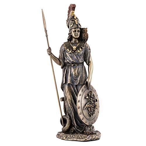 Athena Greek Goddess of Wisdom /& War Bronze Finish Statue