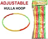 Kids Hula Hoop Adjustable Collapsible Colourful Indoor Outdoor Fitness Gymnastic