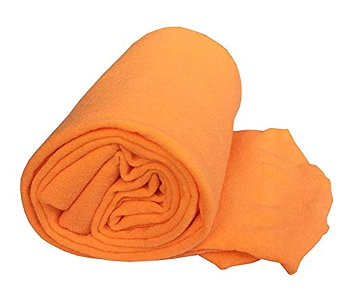 ALsmiley Toddler to Big Girls' Soft Microfiber School Dance Leotard Stockings Ballet Opaque Footed Tights Orange 4-6y -