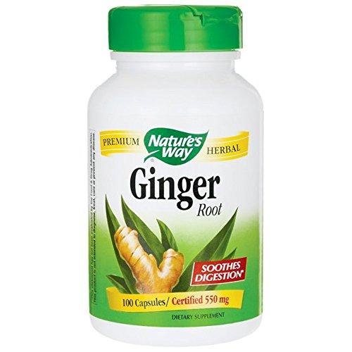 Nature's Way Ginger Root, 550 mg, 100 Capsules 885260220289