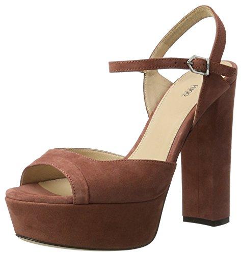 HUGO Dale 10199302 01, Sandalias de Plataforma Para Mujer Marrón (Open Brown)