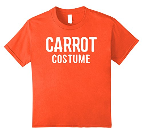 Kids Carrot Costume Shirt for Halloween Men Women Kids 8 Orange