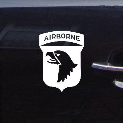 Screaming Eagle Airborne (Decor Decal Sticker Car Home Decor Window Notebook 101St Airborne Screaming Eagles Wwii Helmet Laptop Art Decoration White Wall Art)