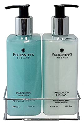 Pecksniffs Handwash Soap and Lotion Set, Stress Reducing, Aromotherapy Cleanser that Leaves Hands Soft and Lightly Scented