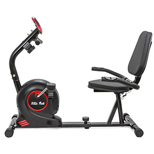 XtremepowerUS Recumbent Fitness Magnetic Stationary