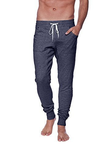 4-rth Men's Long Cuffed Perfection Yoga Pant (Small, Charcoal) by 4-rth
