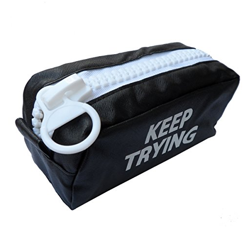 Price comparison product image EnYu PU Leather Stationery Large Capacity Pencil Bag and Multifunction Waterproof Pencil Case with Big Zipper and Toiletry Bag for Boys 1 Pack Black