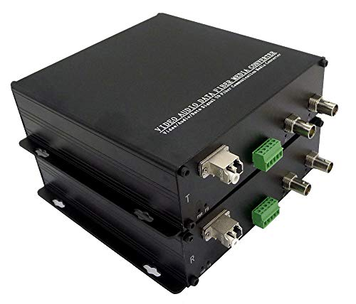 Transwan 2 Ch 3G/HD/SD-SDI & 1 Ch RS 422 Data Optical Fiber Extender Over 10 Kilometers Single Mode Fiber with 3G SDI SFP Module, Supports All Pathological Patterns, SMPTE Standards for Broadcasting