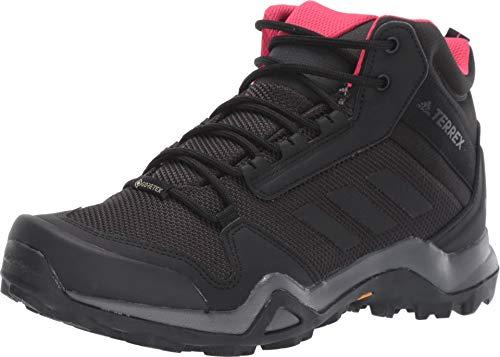 adidas outdoor Women's Terrex AX3 Mid GTX Carbon/Black/Active Pink 8 B -