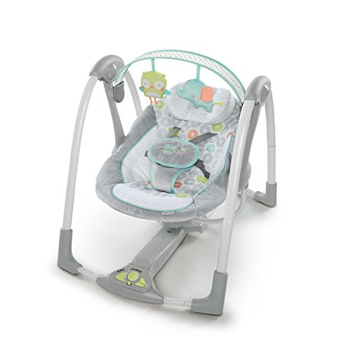 Ingenuity Swing 'n Go Portable Baby Swings, Hugs & Hoots (Best Swing Bouncer Combo)